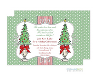 Christmas Topiary Holiday Invitation