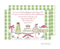 Christmas Cakes Holiday Invitation