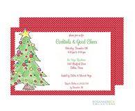 Classic Christmas Tree Holiday Invitation
