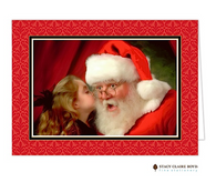 Damask Berry Folded Holiday Photo Card
