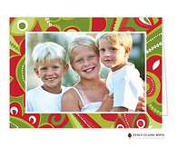 Fashionable Season Folded Digital Holiday Photo Card
