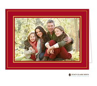 Holiday Elegance Red Folded Digital Holiday Photo Card