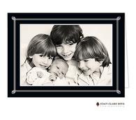 Simply Framed Black Folded Digital Holiday Photo Card