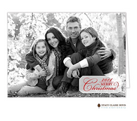 Simple Christmas Folded Digital Holiday Photo Card