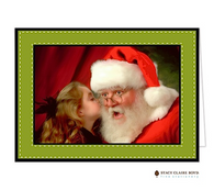 Dashing Through The Snow Green Folded Digital Holiday Photo Card