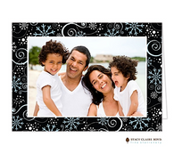 Winter Bliss Folded Digital Holiday Photo Card