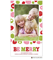 Funky Merriment Red Flat Digital Holiday Photo Card