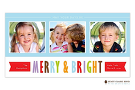 Bright Holiday Flat Digital Holiday Photo Card