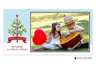 Trimmed With Love Flat Digital Holiday Photo Card
