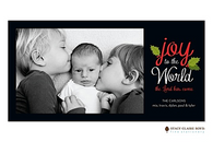 Joy To The World Flat Digital Holiday Photo Card