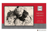 Merry Houndstooth Flat Digital Holiday Photo Card