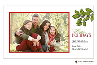 Classic Holly Flat Digital Holiday Photo Card
