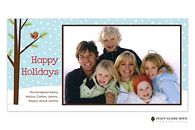 Chilly Chirpin Flat Digital Holiday Photo Card