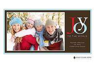 Joy To The World Chocolate Flat Digital Holiday Photo Card