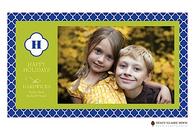 Quatrefoil Holiday Flat Digital Holiday Photo Card