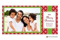 Pretty Package Red Flat Digital Holiday Photo Card
