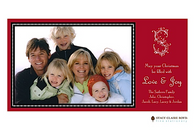 Ornamental Garland Flat Digital Holiday Photo Card