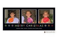 Colorful Christmas Flat Digital Holiday Photo Card