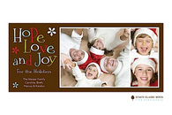 Hip Holidays Flat Digital Holiday Photo Card