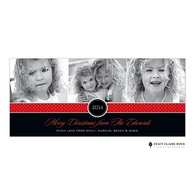 A Very Good Year Red Flat Digital Holiday Photo Card
