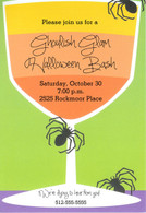 Spider Sip Halloween Holiday Invitation