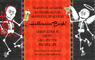 Skeletons & Spooktails Halloween Invitation