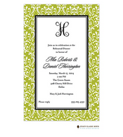 Vintage Damask Green Invitation