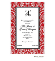 Vintage Damask Red Invitation