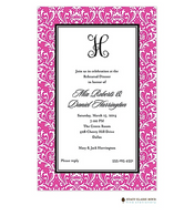 Vintage Damask Fuschia Invitation
