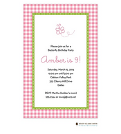 Gleeful Gingham Azalea Invitation