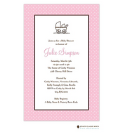 Swiss Dot Pink Invitation