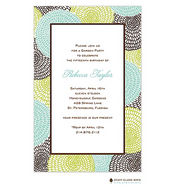 Petal Pushers Aqua Invitation