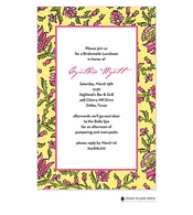 Scarlett's Room Yellow Invitation