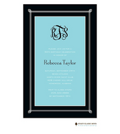 Simply Framed Aqua Invitation