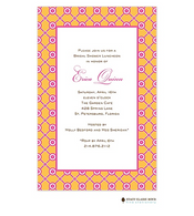 Lattice Bloom Orange Invitation