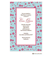 Floral Whisper Aqua Invitation