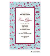 Floral Whisper Aqua Invitation