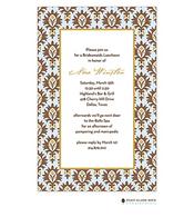 Chateau Orleans Blue Invitation