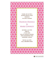 Serpentine Pink Invitation