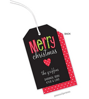 A Merry Heart Personalized Holiday Hanging Gift Tag