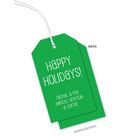 Emerald Vertical Personalized Holiday Hanging Gift Tag