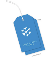 Ocean Vertical Personalized Holiday Hanging Gift Tag