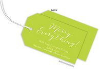 Chartreuse Horizontal Personalized Holiday Hanging Gift Tag
