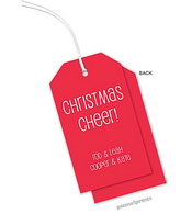 Cherry Vertical Personalized Holiday Hanging Gift Tag