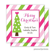 Tree With Heart Personalized Holiday Enclosure Card