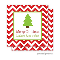 Christmas Tree Personalized Holiday Enclosure Card
