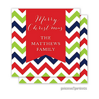 Chevron Christmas Personalized Holiday Enclosure Card
