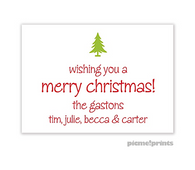 Solid White Personalized Holiday Enclosure Card