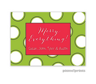 Big Ol Merry Dots Grasshopper Personalized Holiday Enclosure Card