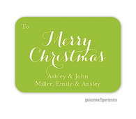 Solid Grasshopper Personalized Holiday Enclosure Card
